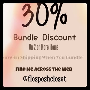 Discount 30% Off By Bundling 2 Or More